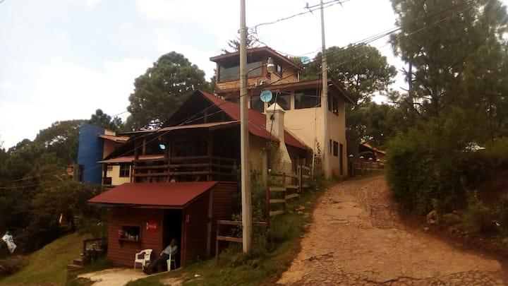 Cabaña romantica Odette en zona boscosa