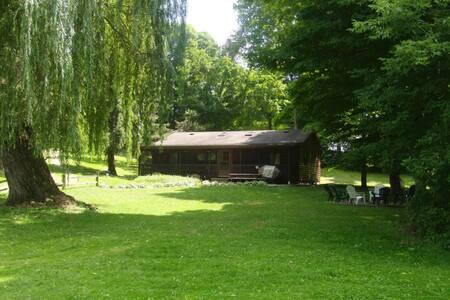 Cozy Lakefront Log Cabin!