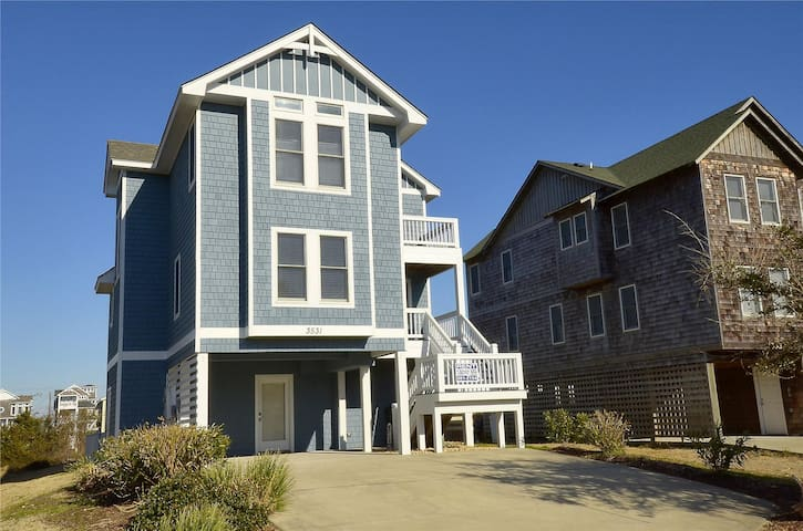 Todd House -- Pet Friendly 5 BR home in Nags Head Place with Private Pool and Hot Tub