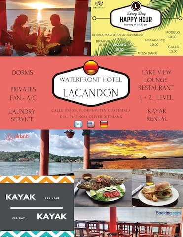 FLORES WATERFRONT HOTEL LACANDON  - BACKPACKER