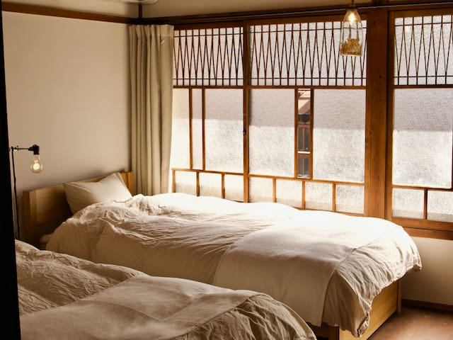 A more Western-style room with beds.