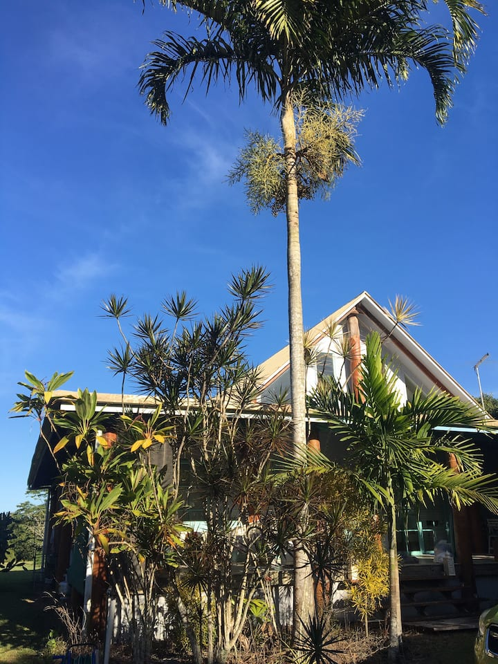 Tropical home near the beach and rainforest.
