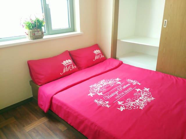 近星海圣亚万达2室精装可做饭 - Dalian - Lägenhet