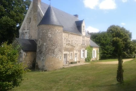 Sarthe, val de loir, Manoir 15 ème - Chenu - Casa