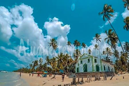 Bangalô térreo beira mar na Praia dos Carneiros -