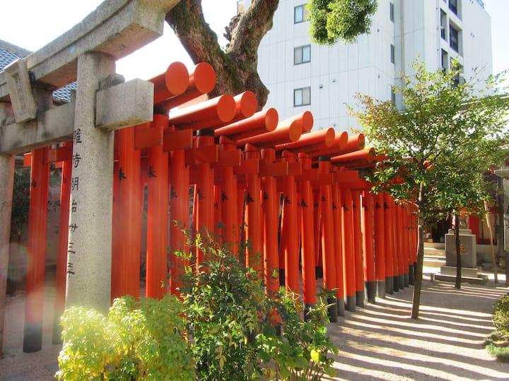 Inari shrine red small gate
