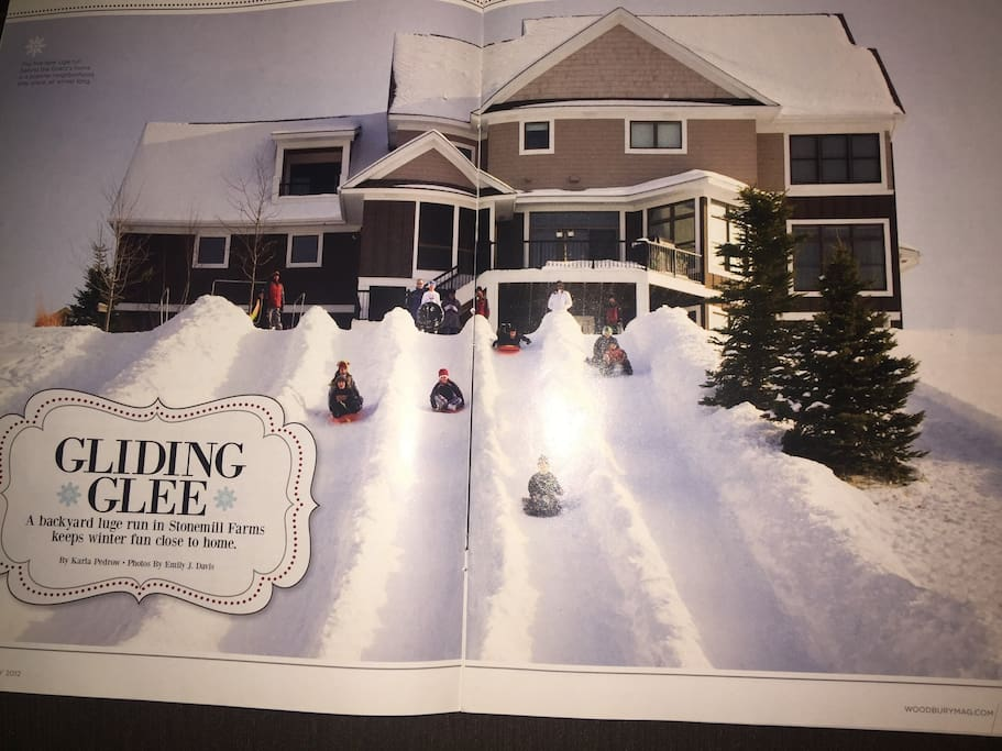 Exterior Backyard Sliding Hill (As Featured in Woodbury Magazine)