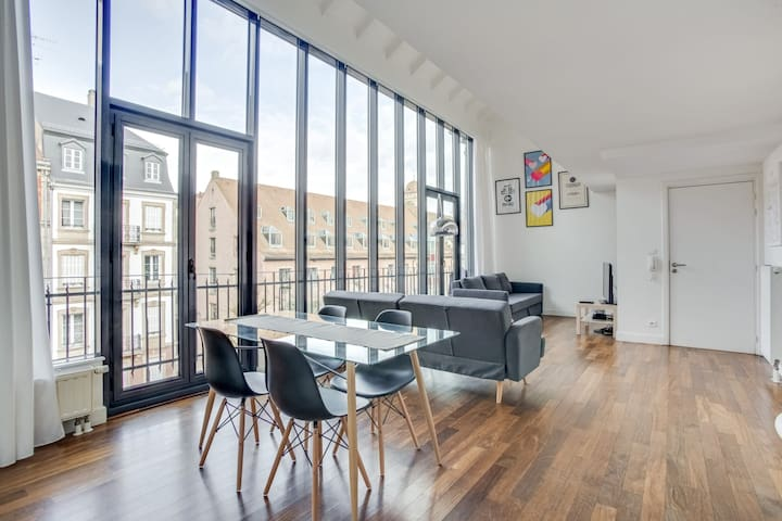 MAGNIFICENT LOFT IN STRASBOURG-KRUTENAU, FOR 4 PEOPLE
