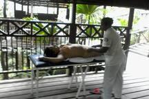 zona de masaje en los pozos termales.