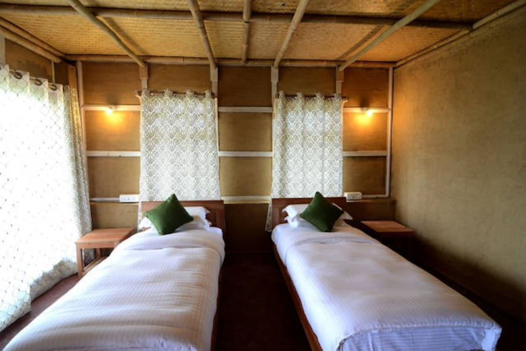 Your room - which can also be made into a double bed