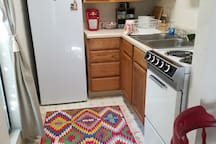Kitchen area with Keurig Coffee Maker