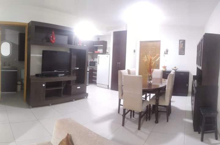 Acogedor departamento de 1 dormitorio con piscina.