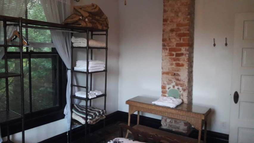 Third Bedroom - Old Coal Chimney Stack and Furniture