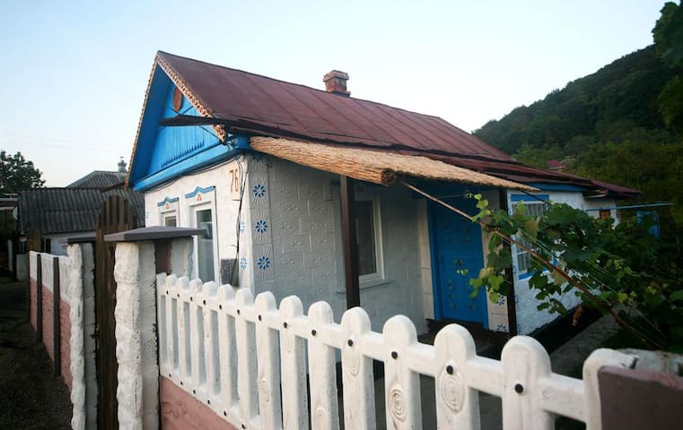 Дом с садом, баней и сеновалом возле источников