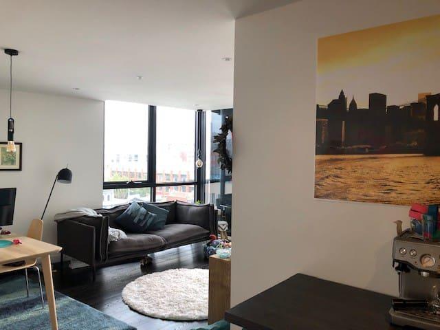 Room & bathroom in modern apartment Fitzroy & CBD