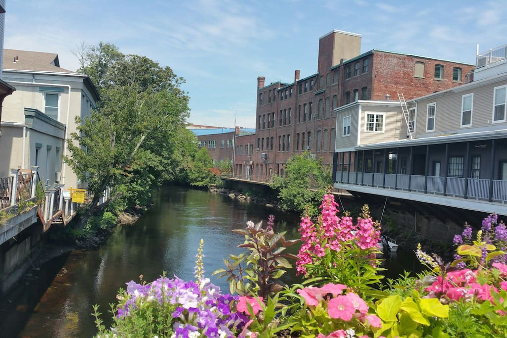 The Pawcatuck River in Downtown Westerly