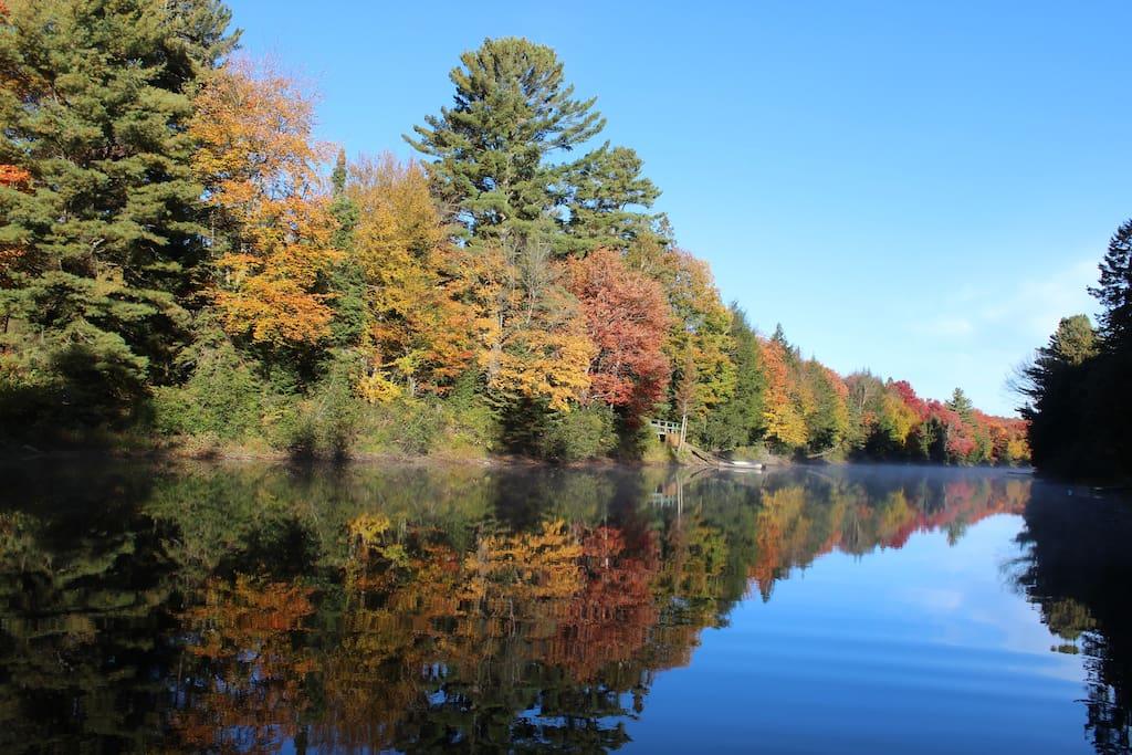 Muskoka River in the autumn