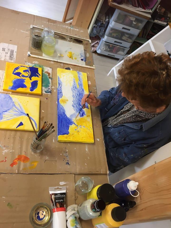 Harmonie jaune et bleu