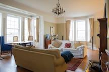adjacent sitting room