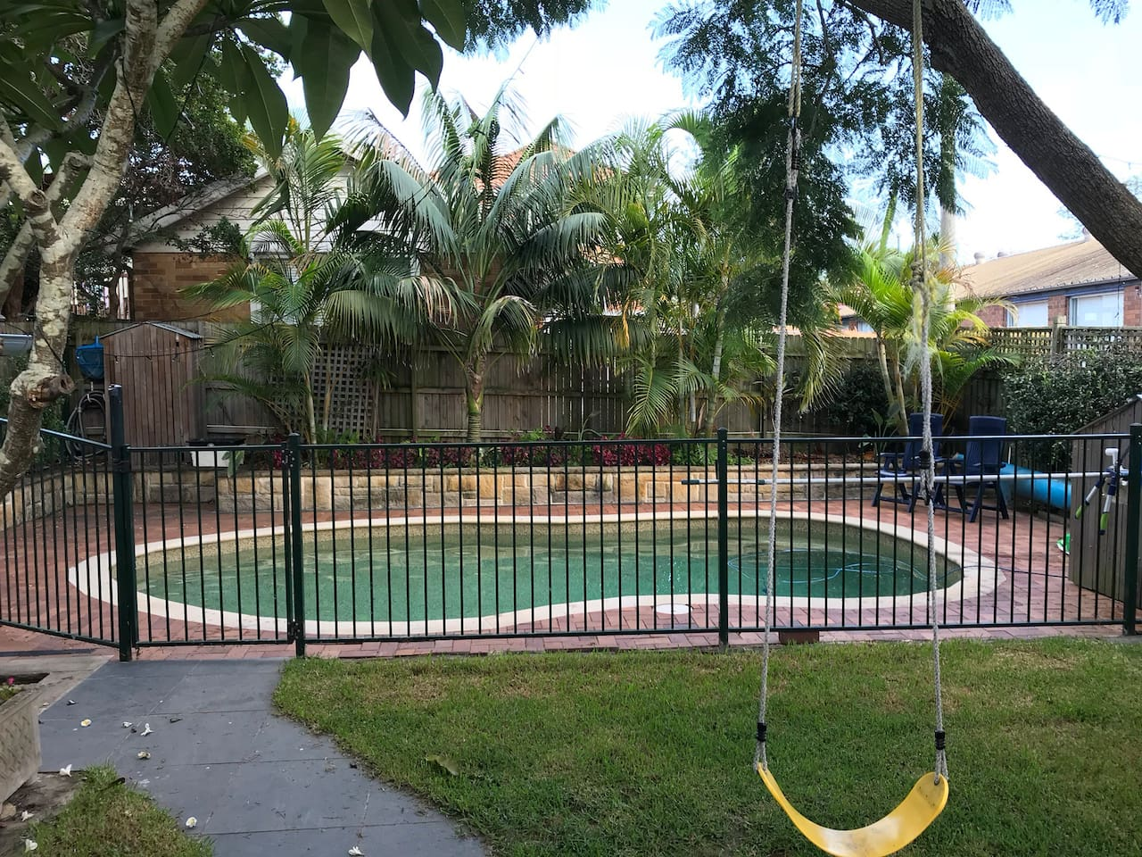 Salt chlorinated pool