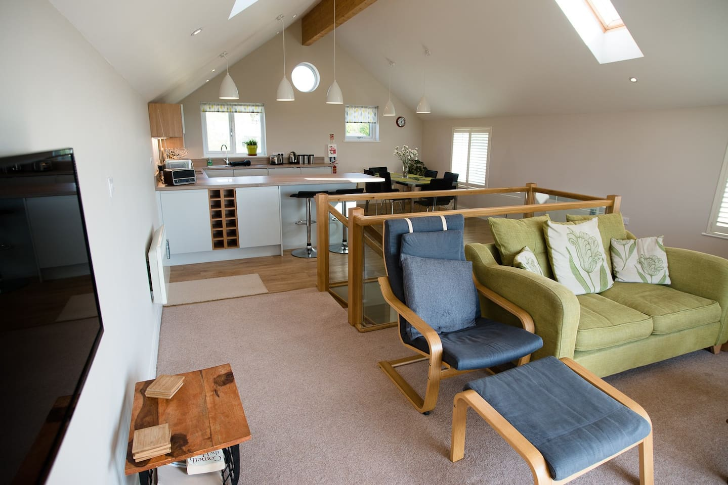 The eating and living area