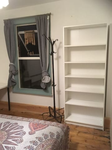 Room - bookcase, hat stand