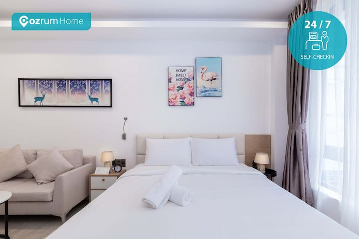 Cozrum Homes ✯ 1BR Lovely Studio w Couple Dating