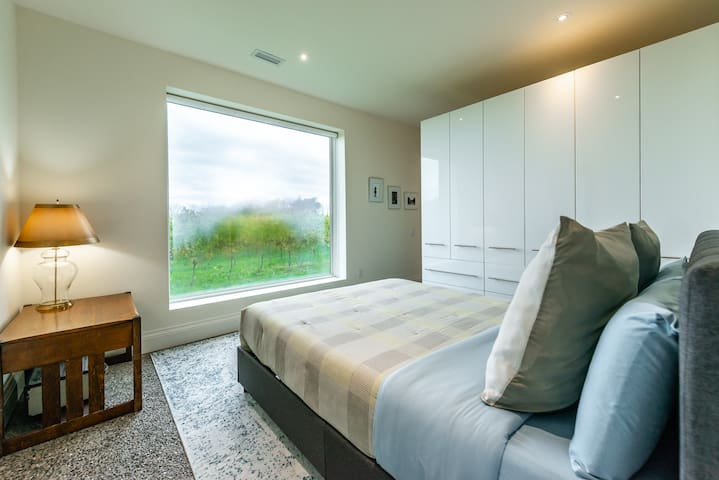 Wake up in the Vineyards of Niagara-on-the-Lake!  There are Privacy blinds on all windows.