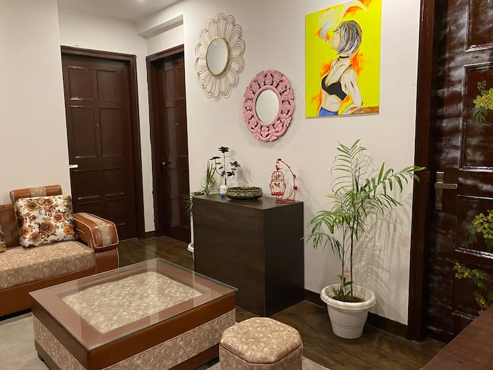 3 Bedrooms with private party Hall and Balcony