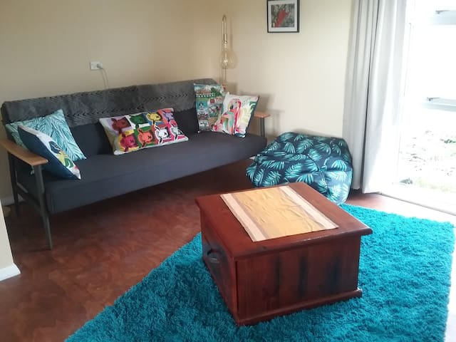 Sitting room with sofa bed