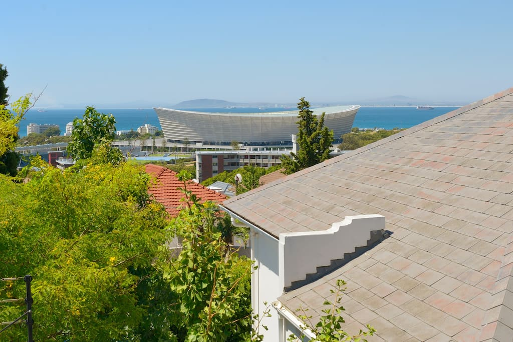 View from the house over the Green Point Stadium.
