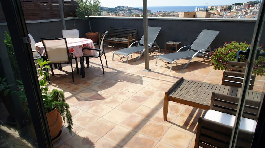 Sea view apartment with big terrace - Sant Feliu de Guíxols - Apartment
