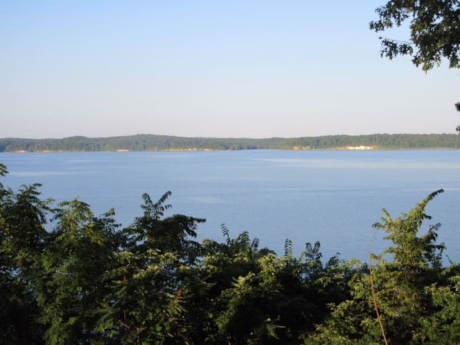 View of Kentucky Lake from the lakehouse. Private dock and swim area included.