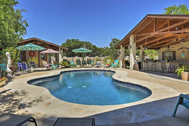 Peaceful Kerrville House w/Private Pool & Hot Tub!