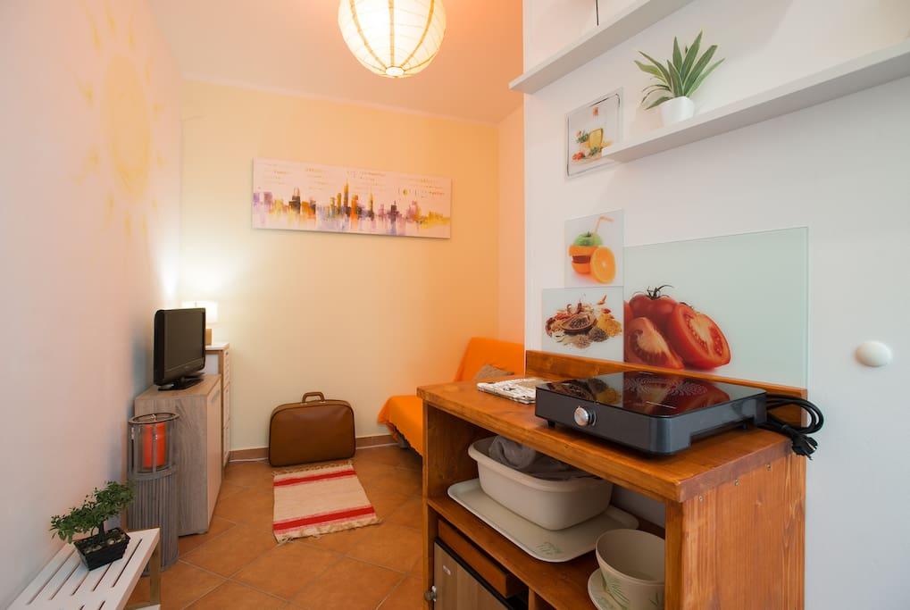 Tiny studio apartment