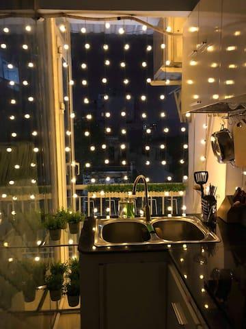 Romantic lighting for the night <3
