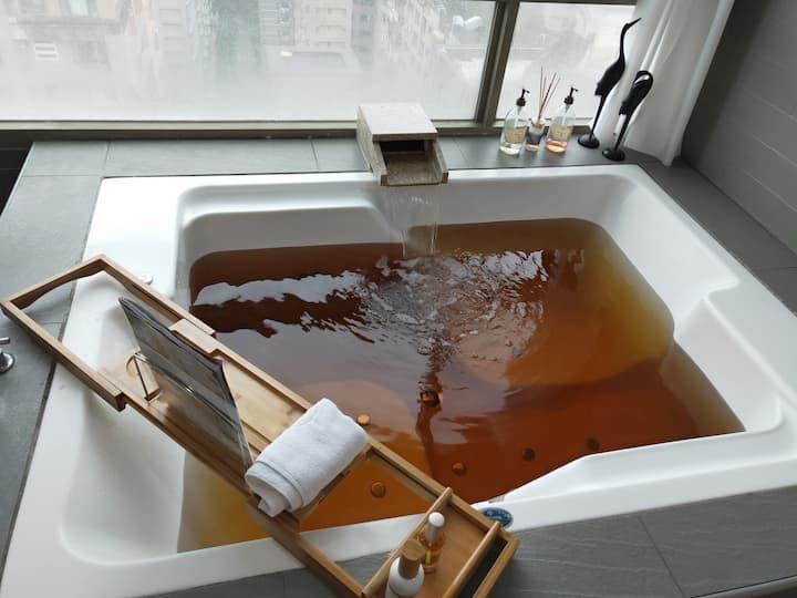 TAMSUI Nice suite with hot spring 淡水舒適溫泉套房近輕軌不接受隔離