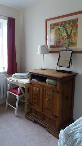 Small work desk and cabinet