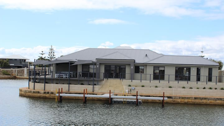 Port Bouvard Retreat - large canal home with jetty