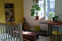 2nd floor cabinet, tea and music room