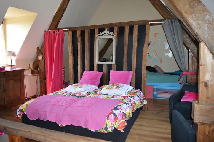 Chambre familiale chez Jocelyne - Courcy - Rumah
