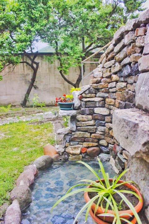 Beautiful terrace and garden