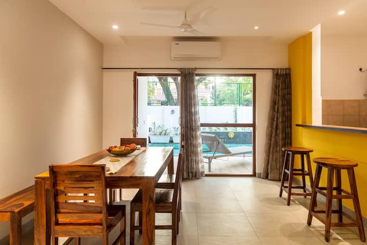 Chapora: 3BHK Premium Villa  (pool/parking), Baga