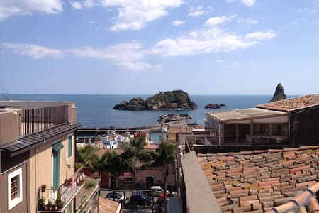 Cozy apartment with amazing sea view - Aci Castello