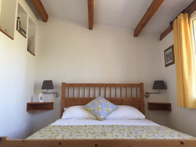 Room 4: Cassiopee. A private and stylish room that is located within an old Pigeon House, reported to be the oldest building in the village. It has a double bed and en-suite bathroom. With a private courtyard, afforded by stunning valley views.