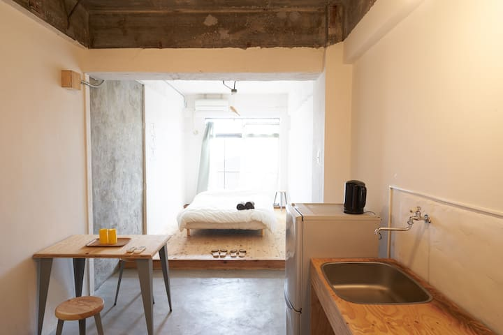 Good access to Naoshima, (D)bed for 1-3guest #B - Tamano-shi - Lejlighed