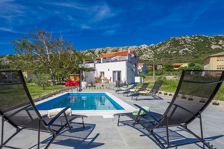 Studio w pool,5 min drive to beach - Draga Bašćanska - 公寓