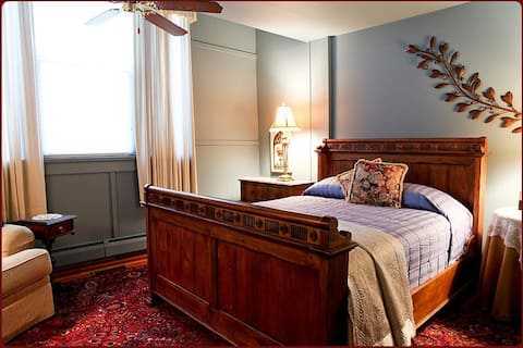 Queen room at B & B just steps to the beach!
