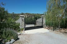 The gated entrance