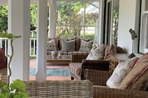 The Belvidere country house has a beautiful stoep where breakfast is served